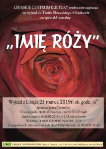 Wyjazd do teatru Imię róży