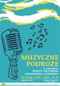 """""""Muzyczne podróże"""" w wykonaniu Marty Artymiak i Wojciecha Czarnoty"""