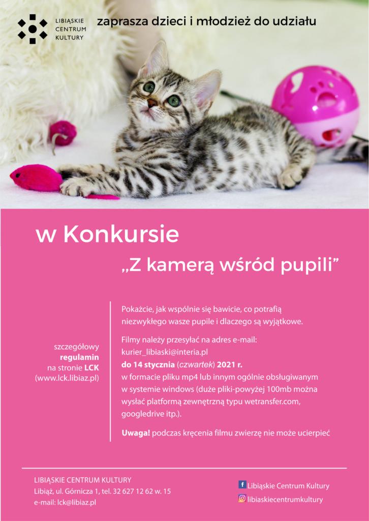"""Konkurs """"Z kamerą wśród pupili"""""""